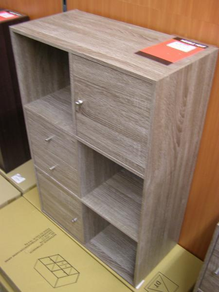 d p t vente ab troc meuble chene gris 6 cases dont 2 portes et 2 tiroirs 60x90 neuf. Black Bedroom Furniture Sets. Home Design Ideas